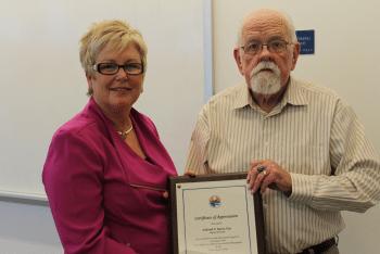 Deborah Ruster Receives Certificate